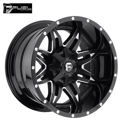 Fuel Off Road D267 2pc Lethal Matte Blk Machined w/Gloss Blk Lip