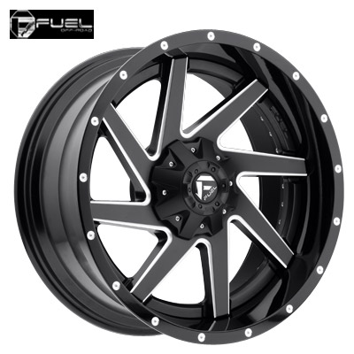 Fuel Off Road D265 2pc Renegade Matte Blk & Milled w/Gloss Blk Lip