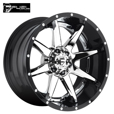 Fuel Off Road D247 2pc Rampage Chrome w/Gloss Blk Lip