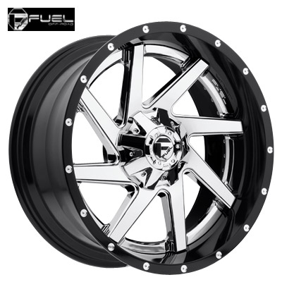 Fuel Off Road D263 2pc Renegade Chrome w/Gloss Blk Lip