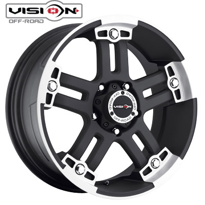 Vision Off Road 394 Warlord Matte Blk Machined