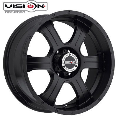 Vision Off Road 396 Assasin Matte Blk w/Black Bolts