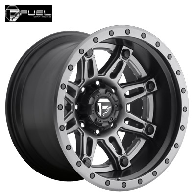Fuel Off Road D232 2pc Hostage II Anthracite Center w/Blk Lip & Anthracite Ring