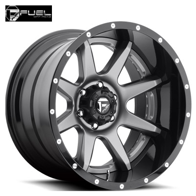 Fuel Off Road D238 2pc Rampage Anthracite Center w/Gloss Blk Lip
