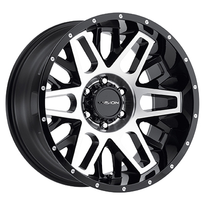 Vision Off Road 388 Shadow Gloss Black Machined Face