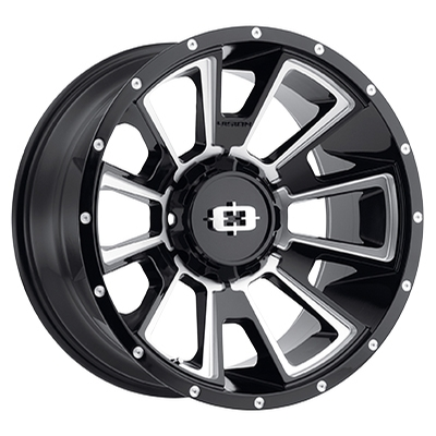 Vision Off Road 391 Rebel Gloss Black Milled