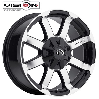 Vision Off Road 413 Valor Machined/Blk