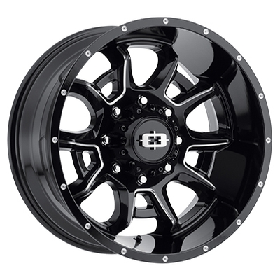 Vision Off Road 415 Bomb Gloss Black Milled