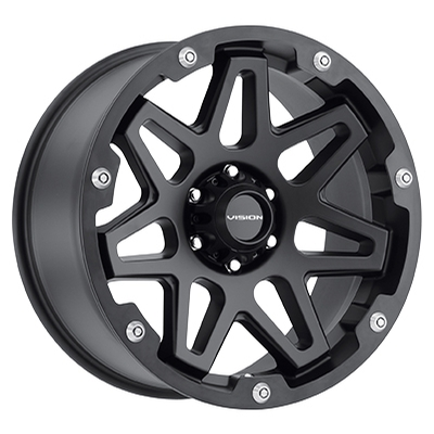Vision Off Road 416 Se7en Satin Black w/Black Ring