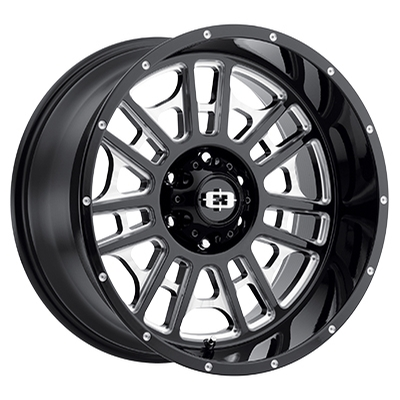Vision Off Road 418 Widow Gloss Black Milled