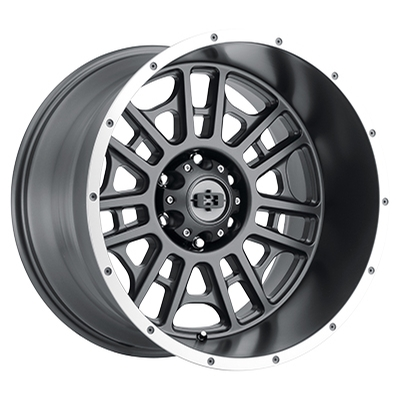 Vision Off Road 418 Widow Satin Grey Machined Lip