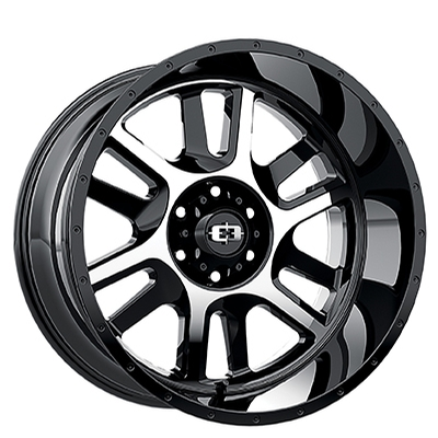 Vision Off Road 419 Split Gloss Black Machined