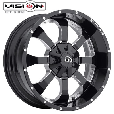 Vision Off Road 420 Locker Gloss Blk Milled