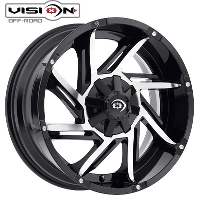 Vision Off Road 422 Prowler Gloss Blk Machined