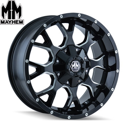 Mayhem 8015 Warrior Satin Black Milled