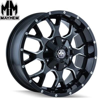 Mayhem 8015 Warrior Satin Black Milled