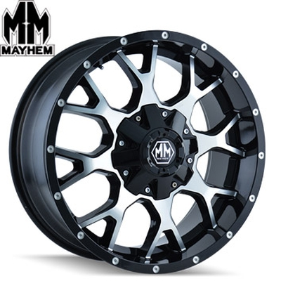 Mayhem 8015 Warrior Machined Satin Black