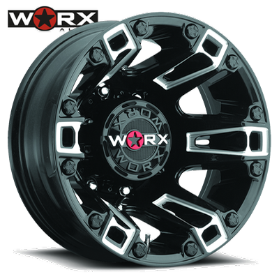 Worx 803 Beast Dually Rear Gloss Blk w/Milled Accents