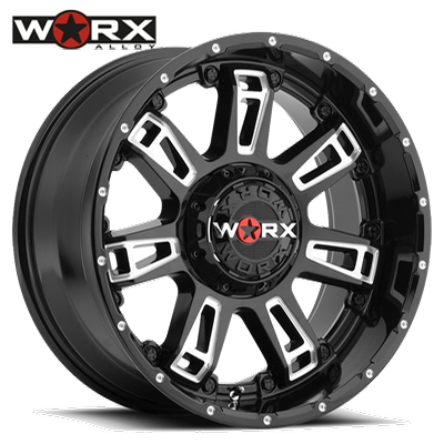 Worx 808 Beast II Gloss Blk w/Milled Accents