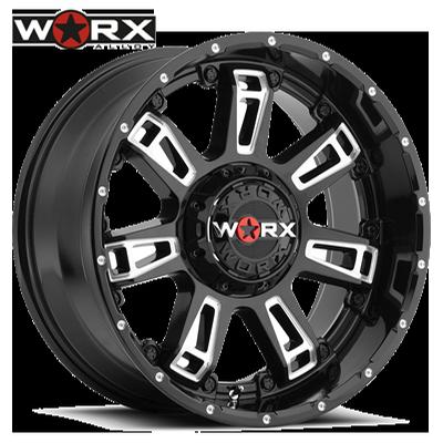 Worx 808 Beast II Gloss Blk w/Milled Accents