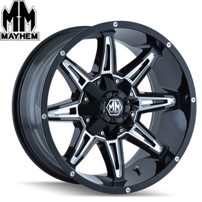 Mayhem 8090 Rampage Satin Black Milled