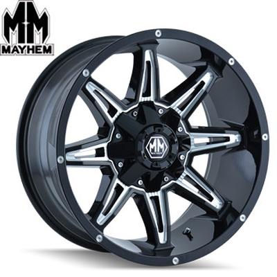 Mayhem 8090 Rampage Satin Black Milled