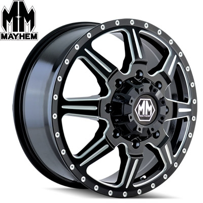 Mayhem 8101 Monstir Dually Satin Black Milled Front