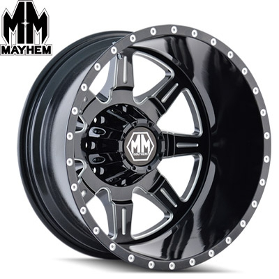 Mayhem 8101 Monstir Dually Satin Black Milled Rear