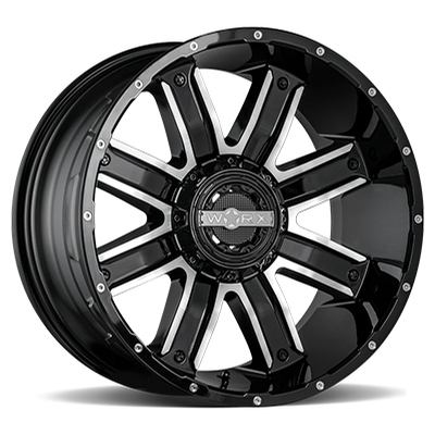 Worx 813 Destroyer Gloss Black w/Milled 5-6 Lug