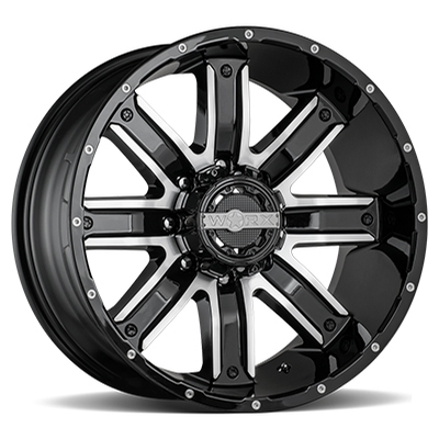 Worx 813 Destroyer Gloss Black w/Milled 8-Lug