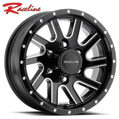 Raceline 820 Twisted Trailer Gloss Black Machined