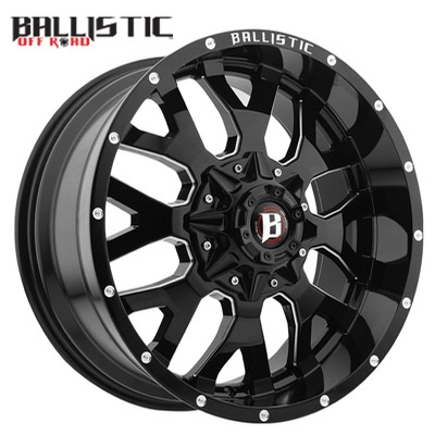 Ballistic Off Road 853 Tank Gloss Black Milled