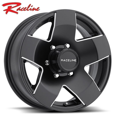 Raceline 855 Maxum Trailer Satin Black Machined