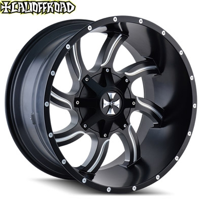 CaliOffroad 9102 Twisted Satin Black Milled