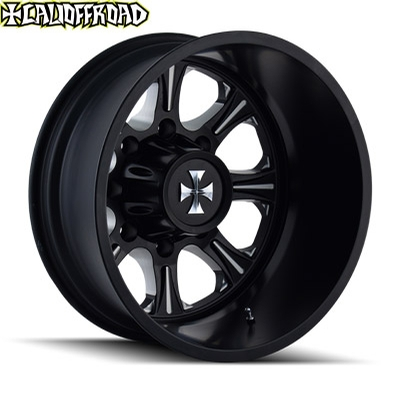 CaliOffroad 9105 Brutal Dually Satin Black Milled Rear