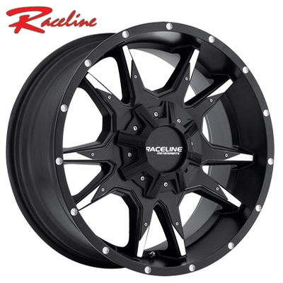 Raceline 912M Cobra Machined w/Satin Blk