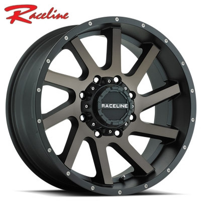 Raceline 932DM Twist Satin Black Machined w/Dark Tint