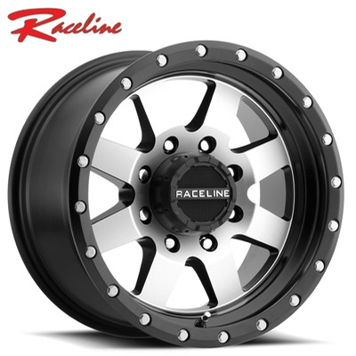 Raceline 935M Defender Machined w/Satin Black Lip