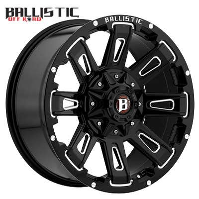 Ballistic Off Road 958 Ravage Gloss Black Milled