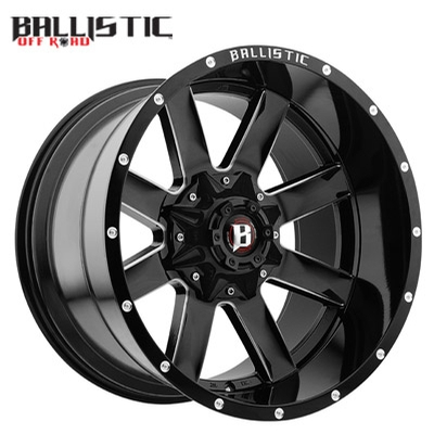 Ballistic Off Road 959 Rage Gloss Black Milled