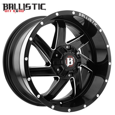 Ballistic Off Road 961 Guillotine Gloss Black Milled