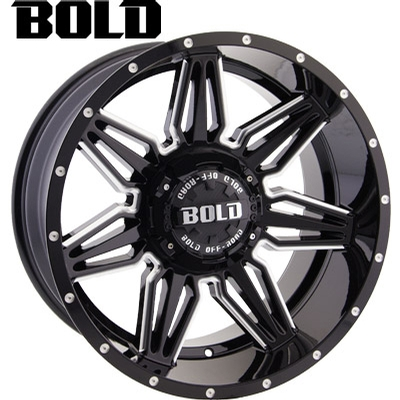 BOLD Off Road BOLD Off Road BD001 Gloss Blk Milled