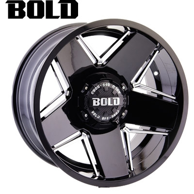 BOLD Off Road BOLD Off Road BD004 Gloss Blk Milled