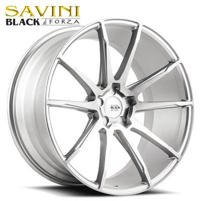 Savini Black BM-12 Brushed Silver