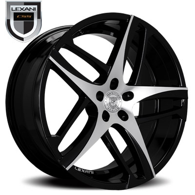Lexani 668 Bavaria Gloss Black w/Machined Face