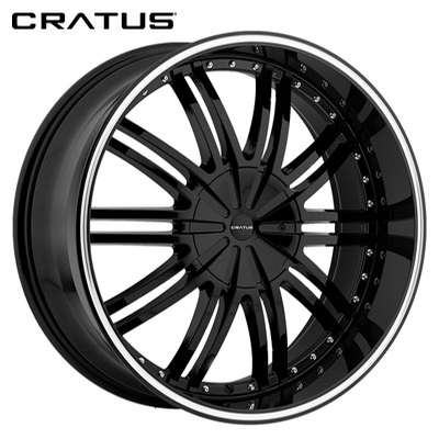 Cratus CR008 Gloss Black w/Machined Lip Stripe