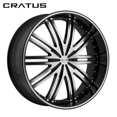 Cratus CR008 Gloss Black Machined w/Machined Lip Stripe