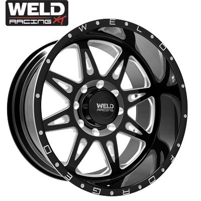 Weld XT Cheyenne 8 Gloss Black Milled