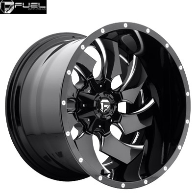 Fuel Off Road D239 2pc Cleaver Gloss Black Milled