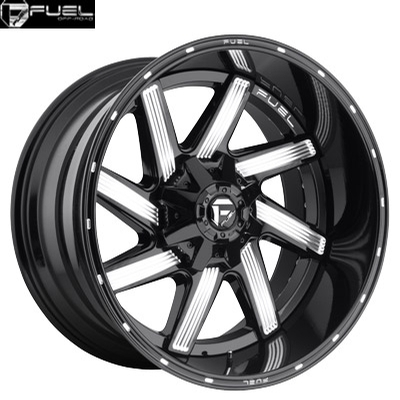 Fuel Off Road D242 2pc Moab Gloss Black Milled